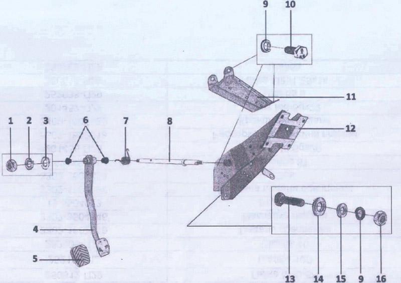 250612-П29 Привод сцепления для вездехода ГАЗ-34039