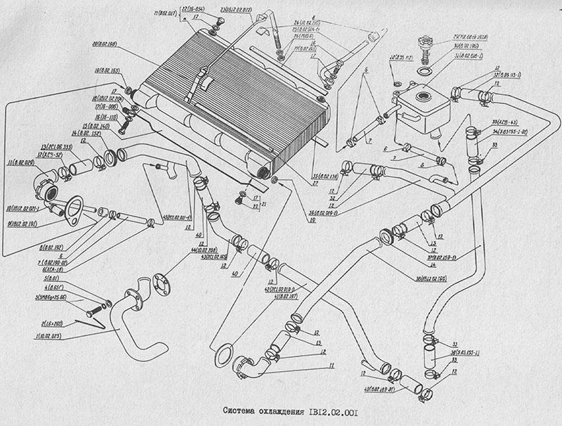 1В12.02.001 Система охлаждения для вездехода МТЛБу