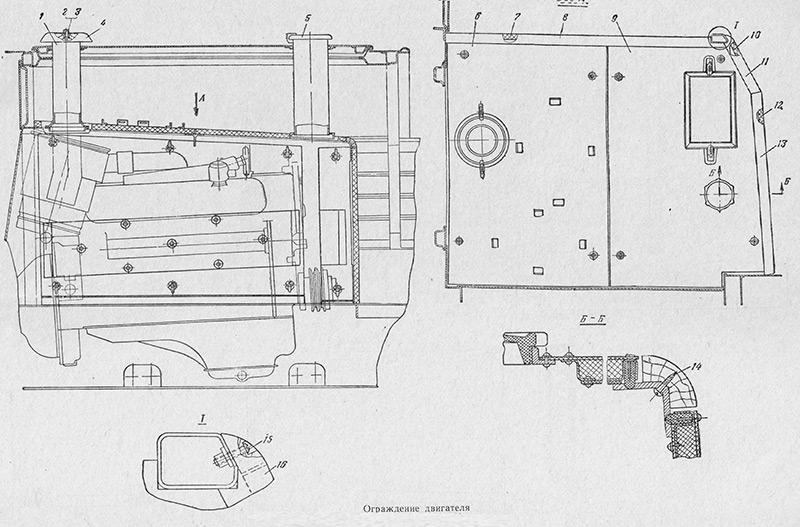 8.37.001 Ограждение двигателя для вездехода МТЛБ