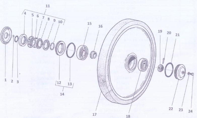 71-3205028 Направляющее колесо для вездехода ГАЗ-34039