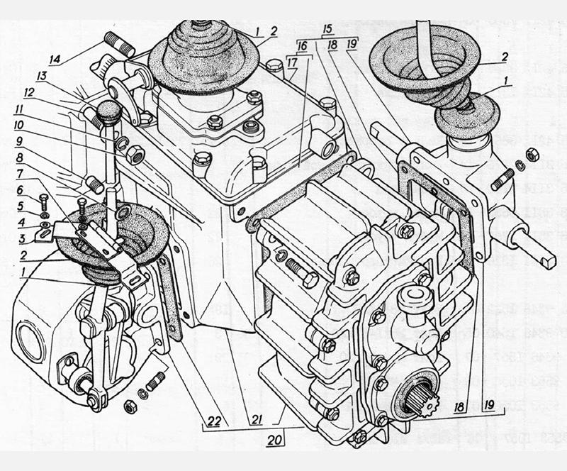 Коробка передач для вездеходов ГАЗ-73 ГТМУ
