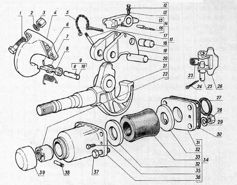Приборы буксирные для вездеходов ГАЗ-73 ГТМУ
