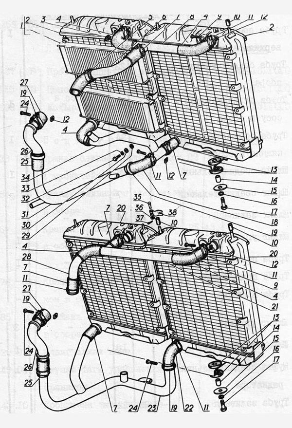 Система охлаждения для вездеходов ГАЗ-73 ГТМУ