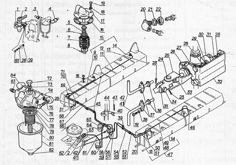 Система питания для вездеходов ГАЗ-73 ГТМУ
